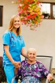 Life at the Nursing Home — Stock Photo