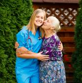 Pleased Senior Patient — Stock Photo