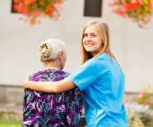 Professional Elderly Care — Stock Photo
