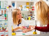 Pharmacist Bored of Her Work — Stock Photo