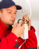 Precise Electrical Installation — Stock Photo