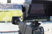 TV at the soccer — Stock Photo