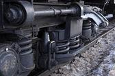 Wheels of the train — Stock Photo