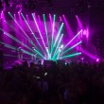 Light striking a rock concert — Stock Photo #77618004
