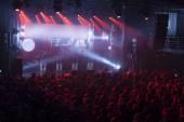 Light striking a rock concert — Stock Photo