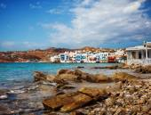 Little venice in mykonos, griechenland. — Stockfoto