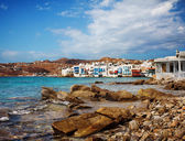 Little Venice in Mykonos, Greece. — Stockfoto