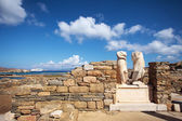 Ruins of Cleopatra House in Delos, Greece — Stockfoto