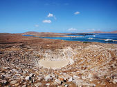 Ancient Amphitheater on Delos — Stockfoto