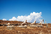 Terrace of the Lions in Delos, Greece  — Stockfoto