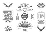 Vector brewery labels. — Stock Vector
