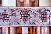 Fragment staré dřevěné židle — Stock fotografie