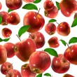 Seamless pattern with apples on the white background. — Stock Photo #63280541