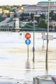 Flooded terrain in Europe — Stock Photo