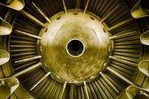 крупным планом реактивного двигателя — Стоковое фото