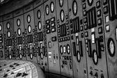 Illuminated control room — Stock Photo