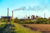 Rural landscape with factory — Stock Photo
