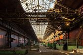 Abandoned industrial interior — Stock Photo
