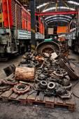 Rusty industrial machine parts — Stock Photo