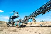 Gruvmaskiner i gruvan — Stockfoto