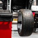 Wheel balancing close up — Stock Photo #58215421