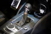 Closeup photo of car gearbox — Stock Photo