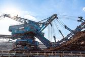 Mining machinery in the mine — Stock Photo