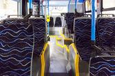 Rows of empty blue seats — Stockfoto