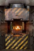 Vlammen in de verbrandingsoven — Stockfoto
