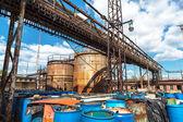 Several barrels of toxic — Stock Photo