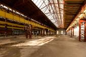Electricity distribution hall in metal industry — Stock Photo