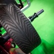 Wheel balancing close up — Stock Photo #64110377