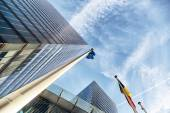 Skyscrapers against blue sky — Stock Photo