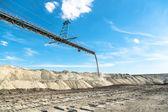 Krajobraz z kopalni maszyny — Zdjęcie stockowe