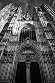 Bruxelles Brusels Belçika'dan güzel Gotik Katedrali — Stok fotoğraf