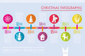 Christmas infographic, vector — Stock Vector