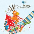 Template Christmas greeting card,  vector — Stock Vector #55445833