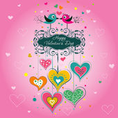 Template Valentine greeting card, vector — Vetorial Stock