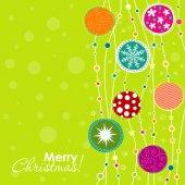 模板圣诞贺卡、 矢量 — 图库矢量图片