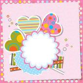 テンプレートバレンタインのグリーティングカード、ベクトル — ストックベクタ