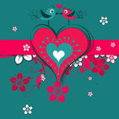 Template Valentine greeting card, vector — Stockvektor