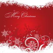 テンプレートのクリスマスのグリーティング カードの背景、ベクトル — ストックベクタ