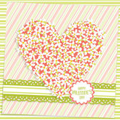 Валентина шаблон поздравительной открытки, вектор — Cтоковый вектор