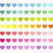 Colorful hearts collection — Stock Vector #54314181