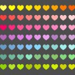 Colorful hearts background — Stock Vector #54314259