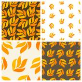 Autumnal patterns — Stock Vector