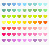 Colorful hearts collection — Stock Vector