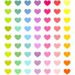 Colorful hearts set — Stock Vector #54396015