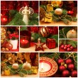 Red and golden Christmas collage — Stock Photo #54606807