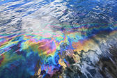 Oil spill in Pearl Harbor — Stock Photo